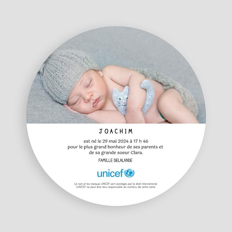 Faire-Part Naissance Garçon UNICEF Tribal Chic pas cher