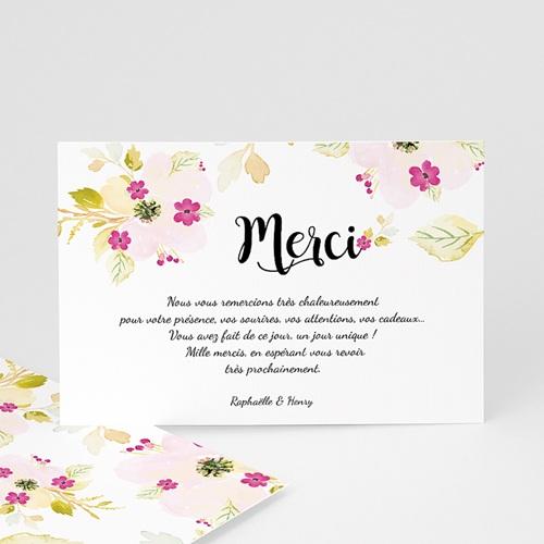 Carte Remerciement Mariage Romance Watercolor
