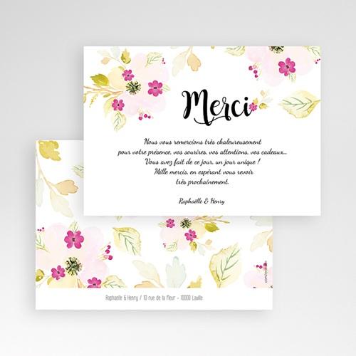 Carte remerciement mariage Romance Watercolor pas cher