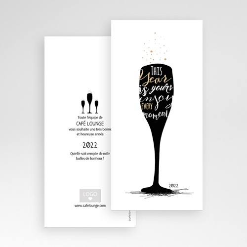 Carte de Voeux Entreprise A la nouvelle année ! pas cher
