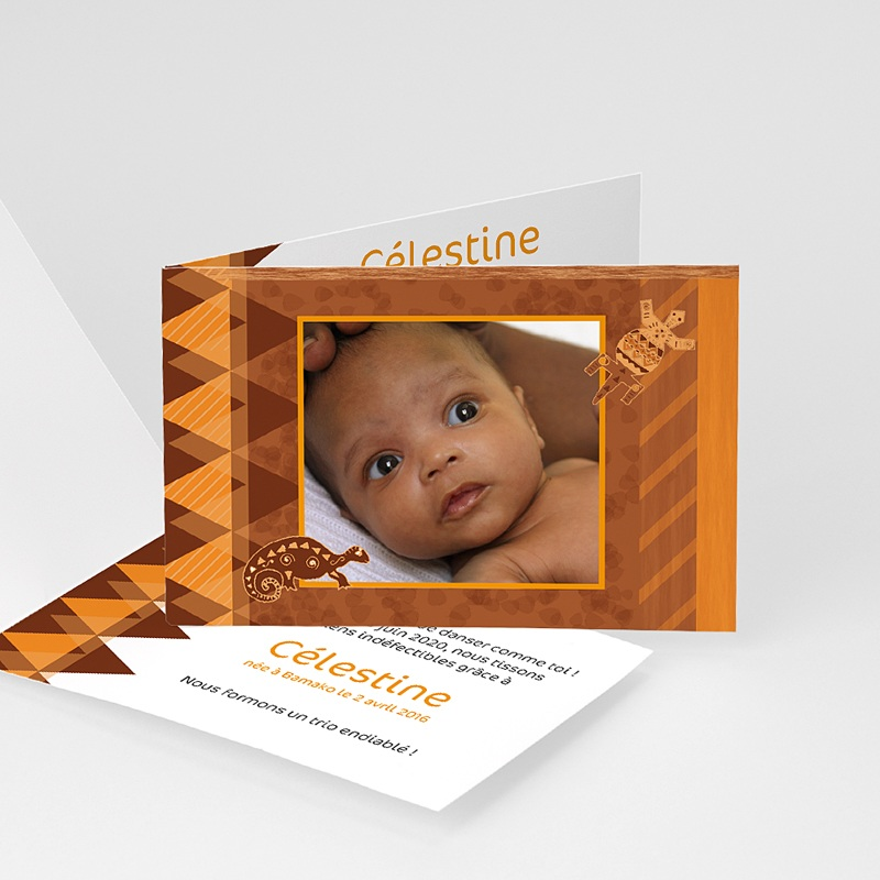 Faire-Part Adoption Fille Pour Kôras et Balafons