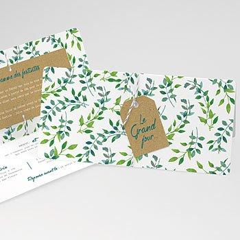 Faire-part mariage Liberty Nature & Kraft