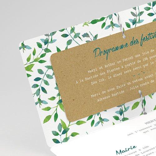 Faire-Part mariage champêtre - Nature & Kraft 54816 thumb