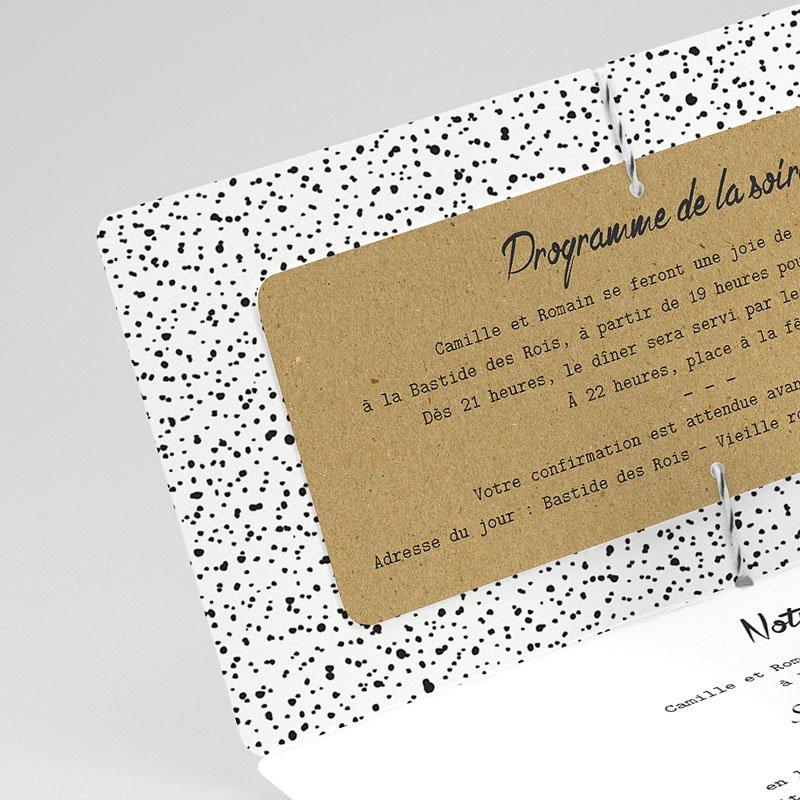 Faire-part mariage Vintage et Pois gratuit