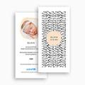 Faire-Part Naissance Fille UNICEF - Graphique Ethnique 54846 thumb