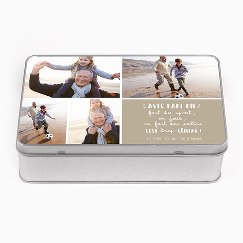 Boîte en métal personnalisée - Papy Gourmand 54862 thumb