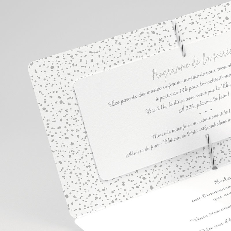 Faire Part Mariage classique Douceur & Chic gratuit