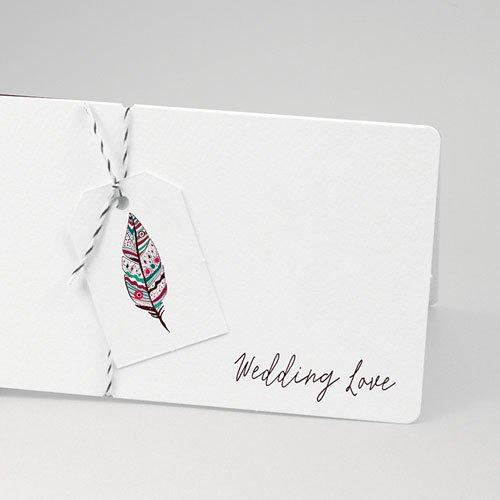 Faire-part mariage Boho & Plume colorée pas cher