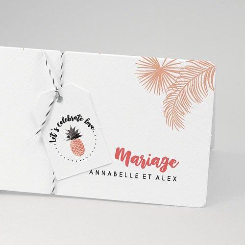 Faire-Part Mariage Rose exotique pas cher