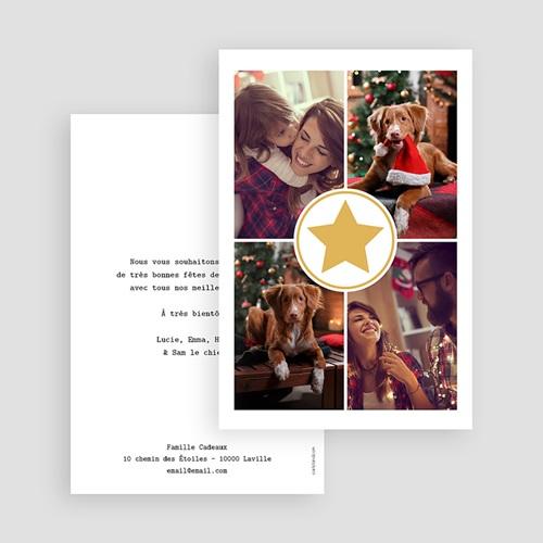 Carte de Voeux 2019 - Etoile dorée 54943 thumb
