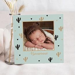 Faire-part naissance garçon Cactus d'or