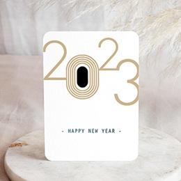 Voeux Pro Nouvel An En chiffres d'or