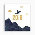 Cartes de Voeux Professionnels - Origami colombe bleue 55014 thumb