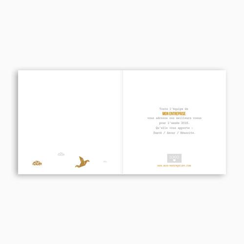 Cartes de Voeux Professionnels - Origami colombe dorée 55024 thumb