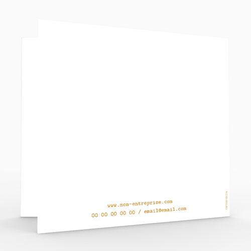 Cartes de Voeux Professionnels - Origami colombe dorée 55025 thumb