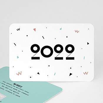 Carte de voeux entreprise Formes Géométriques personnalisable