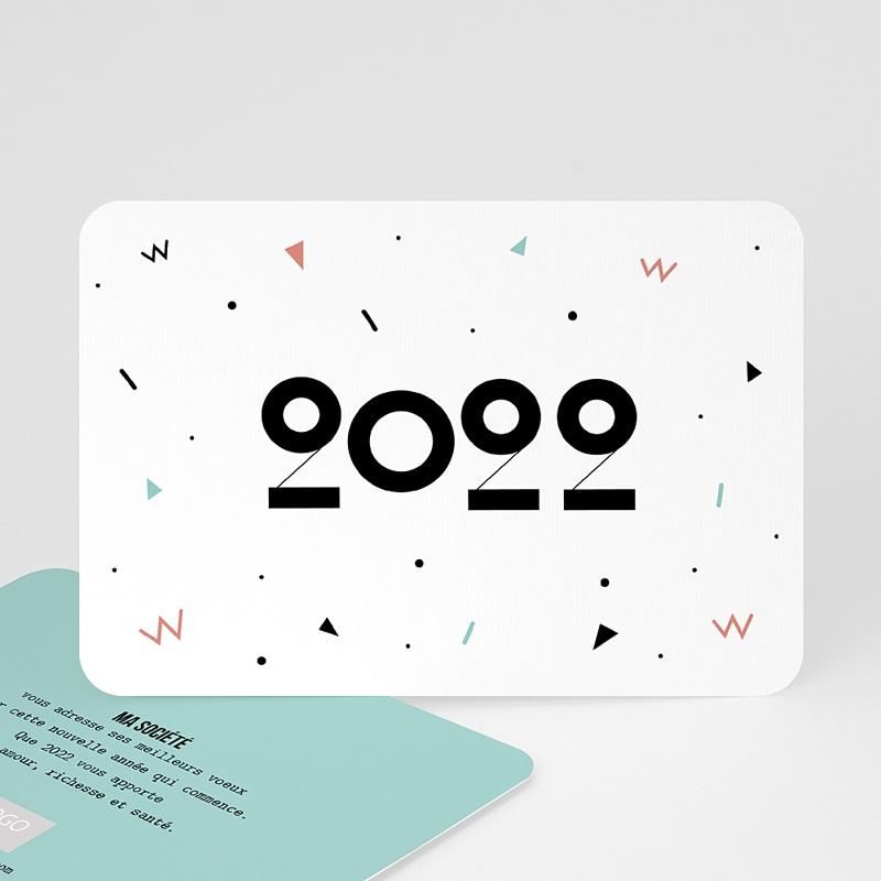 Carte de Voeux Entreprise Formes Géométriques