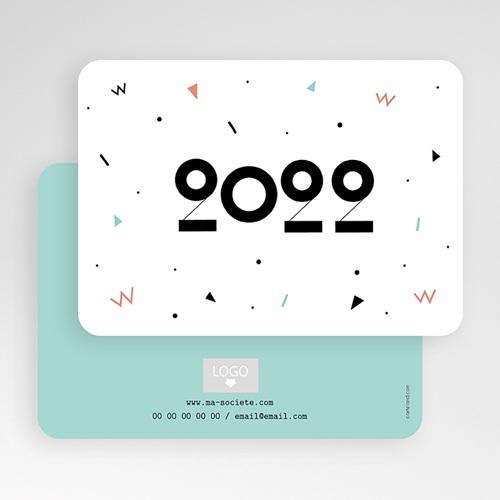 Carte de Voeux Entreprise Formes Géométriques gratuit