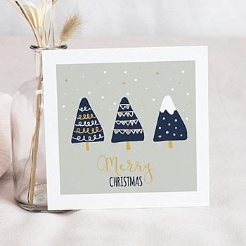 Carte de voeux Merry Christmas Sapins Naïfs personnalisé