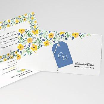Faire-Part mariage champêtre - Bel été - 0