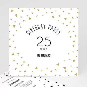 Invitation Anniversaire Adulte - Triangles Chic - 0