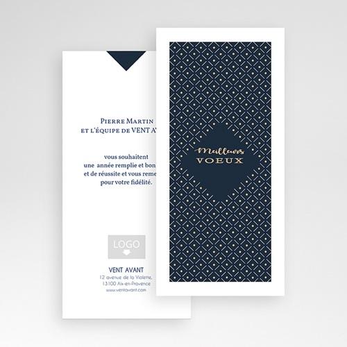 Cartes de Voeux Professionnels - Lignes et points dorés 55160 preview