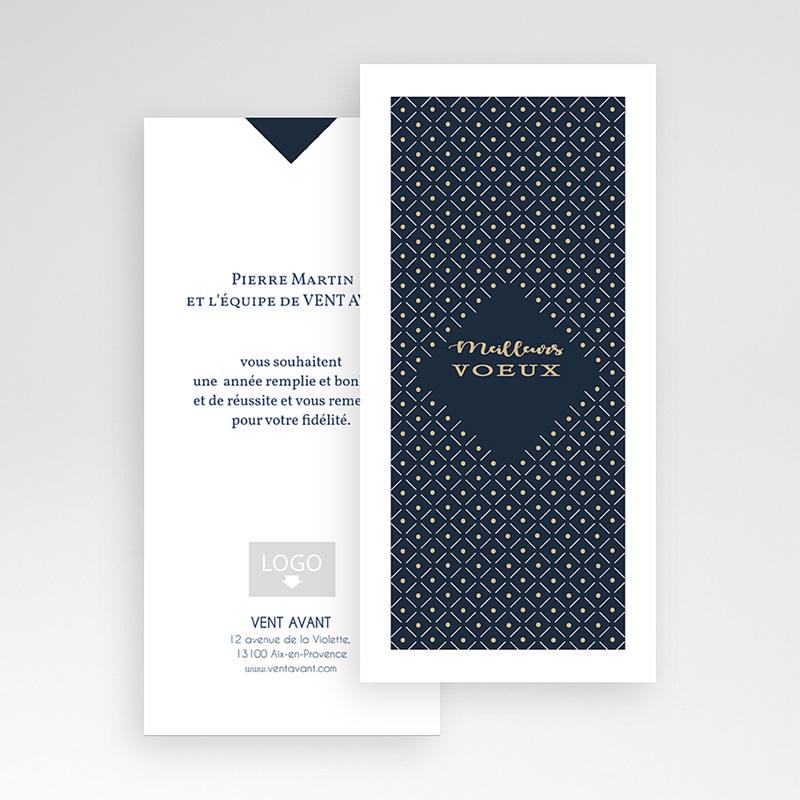 Carte de Voeux Professionnelle - Lignes et points dorés 55160 thumb