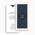 Carte de Voeux Professionnelle - Lignes et points dorés 55161 thumb