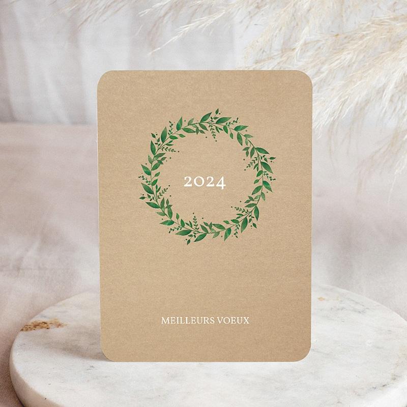 Carte de Voeux Entreprise Naturellement doré