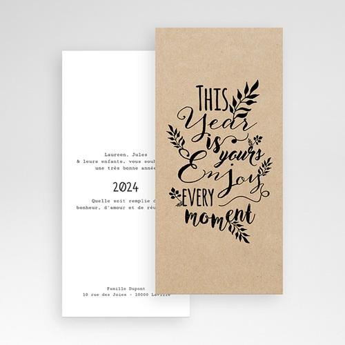 Cartes de Voeux Professionnels - New Year Kraft 55223 thumb