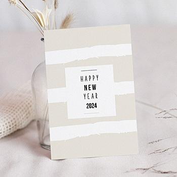Carte de Voeux Professionnelle - Nouvel An Pastel - 0