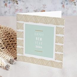 Voeux Pro Nouvel An Bleu & Doré