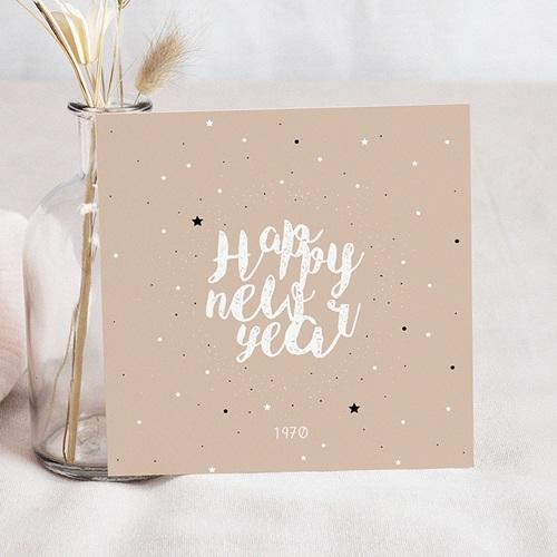 Carte de Voeux Happy New Year Dans les Étoiles