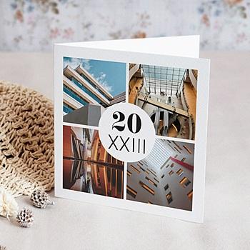Carte de voeux entreprise Archi Moderne personnalisé