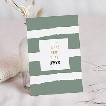 Carte de Voeux Professionnelle - Nouvel An Doré - 0