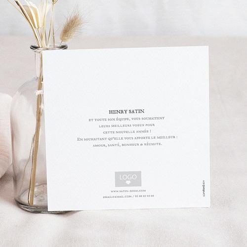 Carte de Voeux Entreprise Hexagone White pas cher