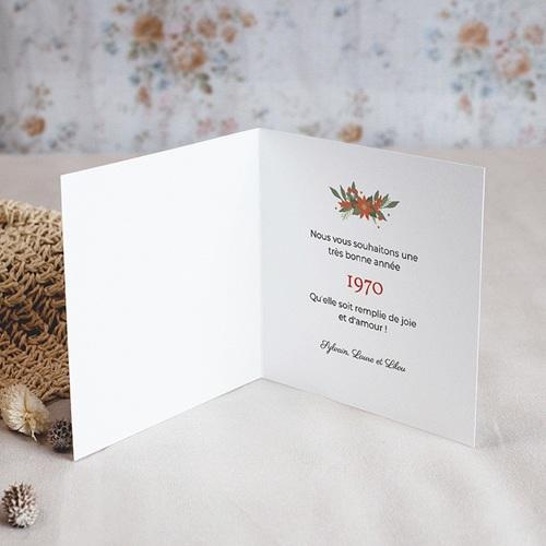 Carte de Voeux Bonne année Etoile de Noel pas cher