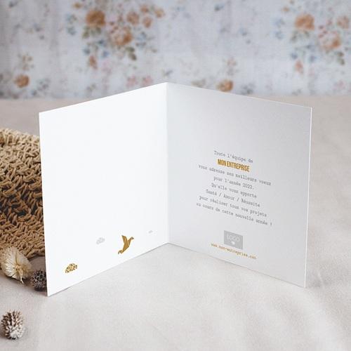 Cartes de Voeux Professionnels - Origami colombe dorée 55448 thumb