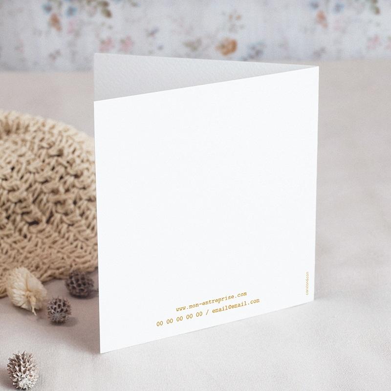 Carte de Voeux Entreprise Origami colombe dorée gratuit