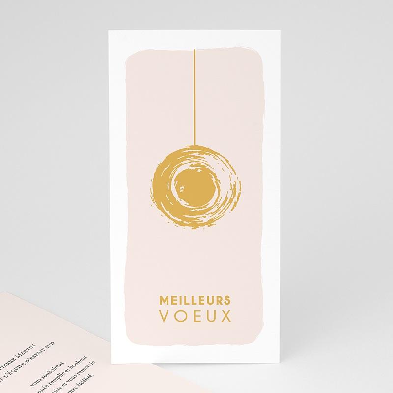 Carte de Voeux Entreprise Boule dorée