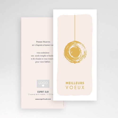 Cartes de Voeux Professionnels - Boule dorée 55478 preview