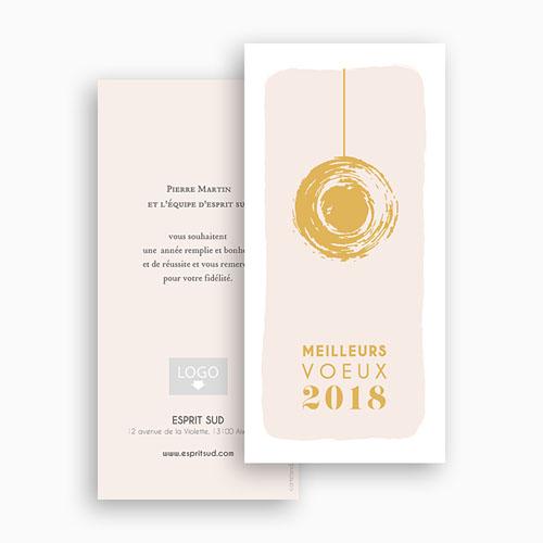 Carte de Voeux Professionnelle - Boule dorée 55479 thumb