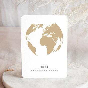Carte de voeux entreprise Terre dorée personnalisable
