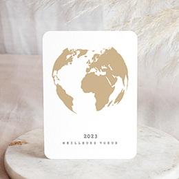 Voeux Pro Nouvel An Terre dorée