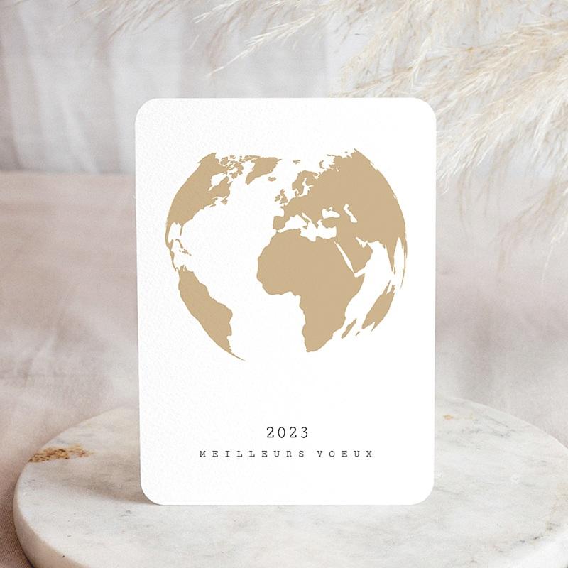Carte de Voeux Entreprise Terre dorée