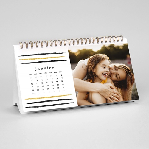 Calendrier de Bureau - Touches d'Or 55522