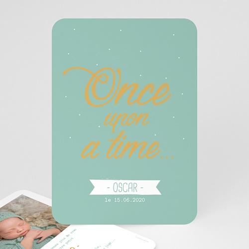 Faire-part naissance garçon Once upon a boy