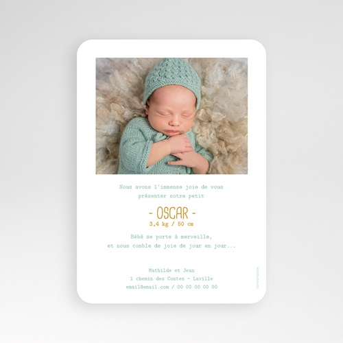 Faire-Part Naissance Garçon - Once upon a boy 55567 preview