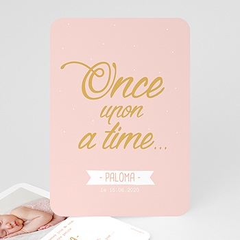 Faire-Part Naissance Fille - Once Upon a Girl - 0