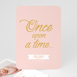 Faire-Part Naissance Fille - Once Upon a Girl 55575